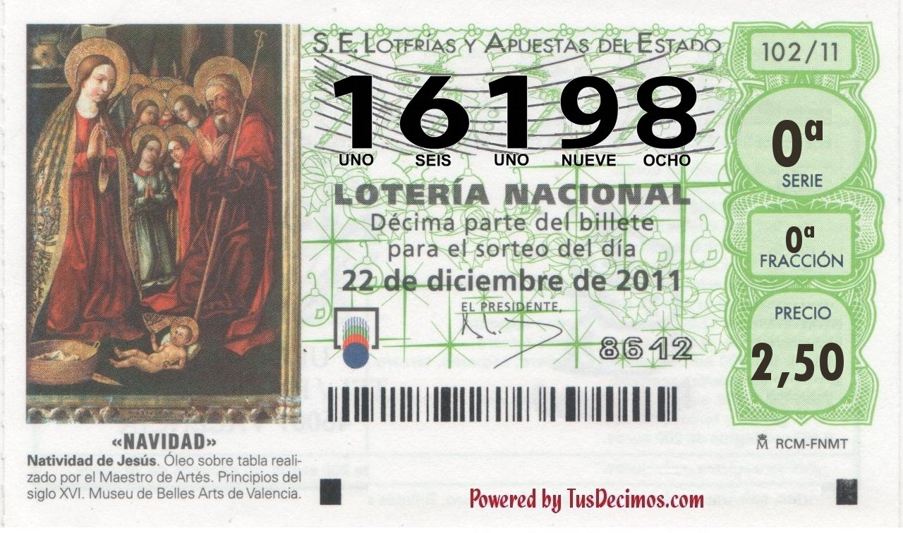 loteria de navidad 22 12: