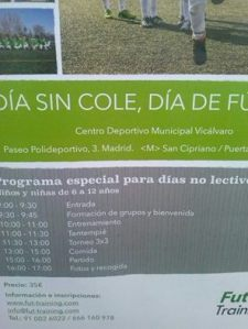 Día sin Cole-Polideportivo Vicálvaro