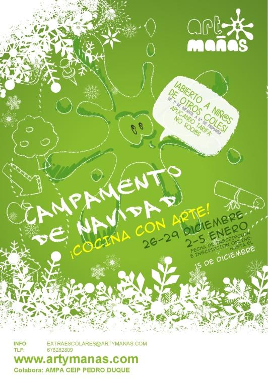 Cartel Campamento de Navidad AMPA CEIP Pedro Duque Art&Mañas